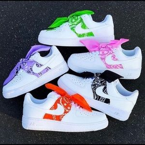 Custom Bandana Air Force 1's